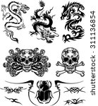 tattoos   Shutterstock .eps vector #311136854
