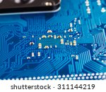 blue circuit board background... | Shutterstock . vector #311144219