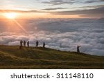 morning sunrise with the... | Shutterstock . vector #311148110