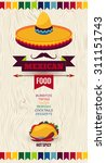 mexican holiday vector poster... | Shutterstock .eps vector #311151743