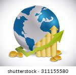 global economy design  vector... | Shutterstock .eps vector #311155580