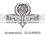 tattoo designed for a shoulder | Shutterstock .eps vector #311159810