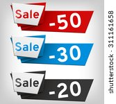 sale shopping vector banners... | Shutterstock .eps vector #311161658