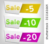 sale shopping vector banners... | Shutterstock .eps vector #311161664