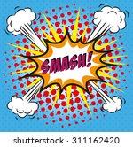 pop art lettering | Shutterstock . vector #311162420