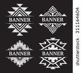 vintage ornate frame banner... | Shutterstock .eps vector #311164604