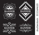 vintage ornate frame banner... | Shutterstock .eps vector #311164610