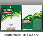 football flyer   poster design... | Shutterstock .eps vector #311166473