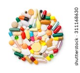 close up group of drugs or... | Shutterstock . vector #311168630
