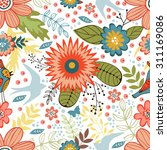 colorful seamless pattern with... | Shutterstock .eps vector #311169086