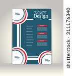 flyer  brochure or magazine... | Shutterstock .eps vector #311176340
