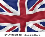 image of a waving flag of uk | Shutterstock . vector #311183678