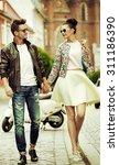 Cute Fashionable Couple On Cit...