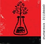 tree research design on red... | Shutterstock .eps vector #311186660