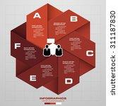 design clean number banners... | Shutterstock .eps vector #311187830