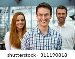group of three happy business... | Shutterstock . vector #311190818