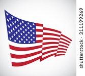 illustration of a waving flag... | Shutterstock .eps vector #311199269