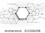 vector abstract futuristic... | Shutterstock .eps vector #311206208