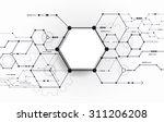 vector abstract futuristic... | Shutterstock .eps vector #311206208