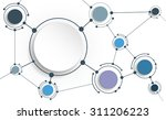 vector abstract molecules with... | Shutterstock .eps vector #311206223