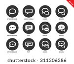 speech bubble vector icons set. ... | Shutterstock .eps vector #311206286