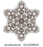 ethnic fractal mandala. vector