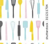 hand drawn seamless pattern... | Shutterstock .eps vector #311211704