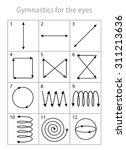 exercises for eyes table | Shutterstock .eps vector #311213636