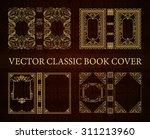 vector set classical book cover