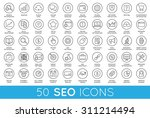 set of vector seo search engine ... | Shutterstock .eps vector #311214494