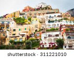 beautiful sea town oil painting.... | Shutterstock . vector #311221010