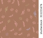 floral vintage seamless pattern.... | Shutterstock .eps vector #311221676