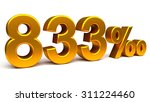 eight hundred and thirty three... | Shutterstock . vector #311224460