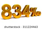 eight hundred and thirty four... | Shutterstock . vector #311224463