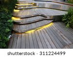 Plank Wood Stair Outdoor In...