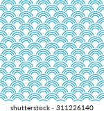 seamless striped wave pattern.   Shutterstock .eps vector #311226140