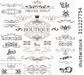 set of vintage decorations... | Shutterstock .eps vector #311227754