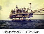 offshore industry oil and gas... | Shutterstock . vector #311242634