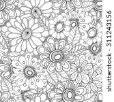 floral seamless pattern.... | Shutterstock .eps vector #311243156