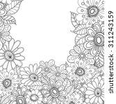 zentangle doodle floral... | Shutterstock .eps vector #311243159