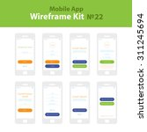 mobile wireframe app ui kit 22. ...