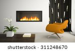 interior of modern room with... | Shutterstock . vector #311248670
