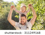 happy father and toddler have... | Shutterstock . vector #311249168