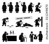 detective spy private... | Shutterstock .eps vector #311249870