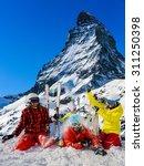 ski  winter  snow   family... | Shutterstock . vector #311250398