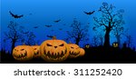 halloween background with ghost ... | Shutterstock .eps vector #311252420