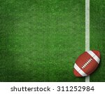 american football with yard... | Shutterstock . vector #311252984