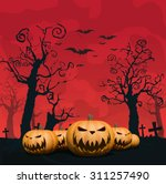 halloween design background | Shutterstock .eps vector #311257490