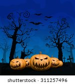 halloween design background | Shutterstock .eps vector #311257496