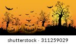 halloween design background | Shutterstock .eps vector #311259029